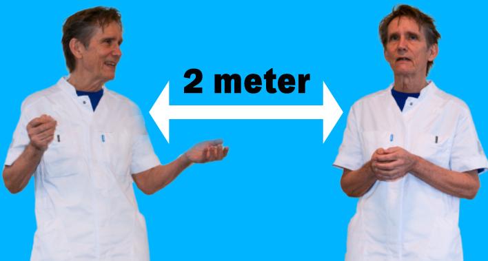 Hold 2 meters afstand, hvor du ikke kan bære værnemidler