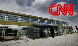 Billede af hvidovre Hospital og et logo fra CNN